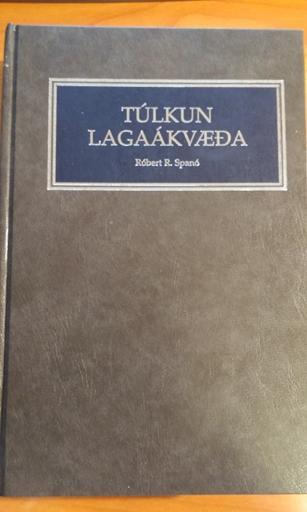 Túlkun lagaákvæða (R. R. Spanó)